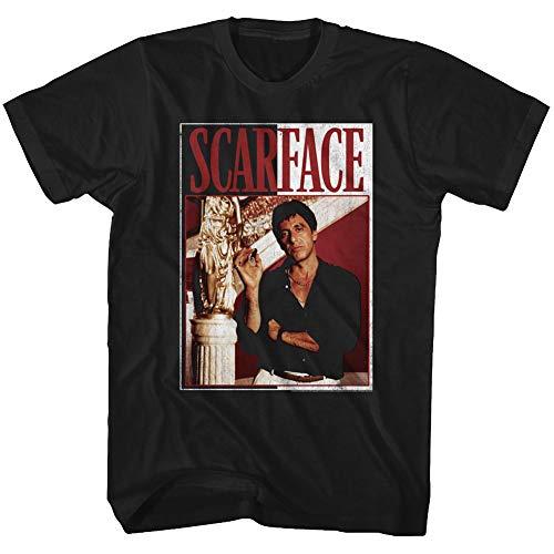 Scarface 1980's Gang Crime Classic Movie Tony Montana Cigar Adult T-Shirt Tee Black