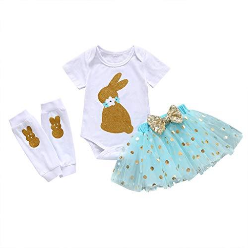 REALIKE Kinder Baby Mädchen 1 Stück Kleid + 1 Stück Tops + 1 Paar Socken Mode Ärmellos-Body im Jumpsuit Elegant Polka-Punkt Bogen Mini Kleid Sommerkleid Prinzessin Kleidung