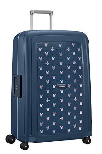 Samsonite S'Cure Disney Spinner Suitcase, 75 cm, 102 L, Blau (Mickey Summer Navy)