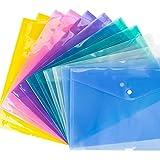 JINQIANSHANGMAO 12pcs Bolsa de Archivo Transparente Papel Carpeta Papelería Escuela Oficina Suministros Suministros Productos de Archivo (Color : Rose Red)