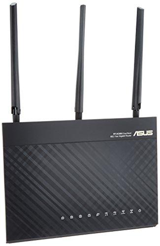 ASUS WiFi 無線LAN ルーター RT-AC68U 11ac デュアルバンド AC1900 1300+600Mbps 最大18台 4LDK 3階建 【 ...