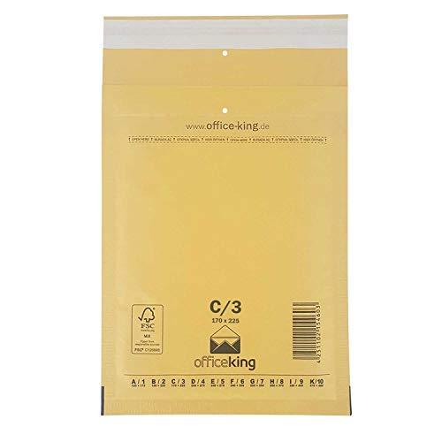 10er Pack Luftpolstertaschen - officeking DIN A5 B6+ | Braun, C3 | 170 x 225 mm
