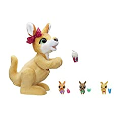 MAMA JOSIE THE KANGAROO LOVES HER 3 BABIES: One's a boy, one's a girl, and one's a surprise – unbox all 3 to solve this sweet little mystery RESPONDS TO TOUCH WITH 70+ SOUND-AND-MOTION COMBINATIONS: Mama Josie the Kangaroo interactive pet toy can mov...