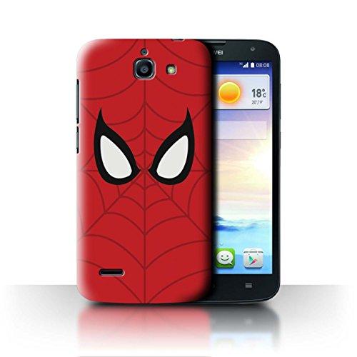 Hülle Für Huawei Ascend G730 Superheld Comic-Kunst Spider-Man Maske Inspiriert Design Transparent Ultra Dünn Klar Hart Schutz Handyhülle Case