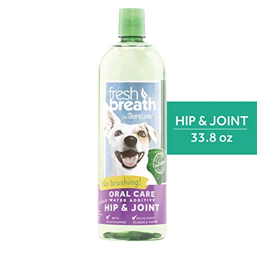 Fresh Breath by TropiClean Oral Care Water Additive Plus Hip & Joint for Pets, 33.8oz - Made in USA