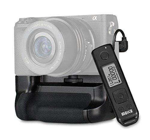 Impulsfoto Meike Batteriegriff Vertikal Handgriff kompatibel mit Sony A6300 - inklusive 2,4 GHz Fernausloeser mit Timer- und Intervall-Funktion - Ersatz für MK-A6300 Pro