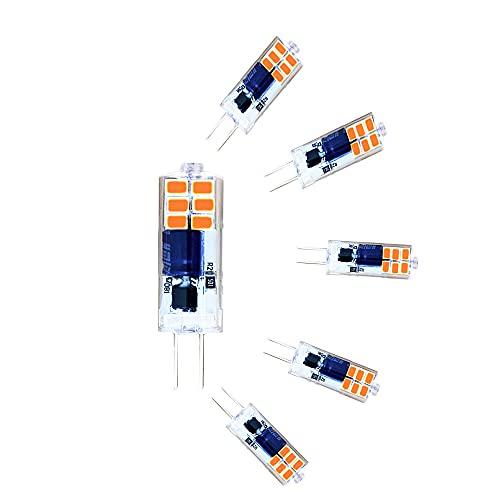 ZHIYUE G4 Bombillas LED 2W AC220-240V No regulable Reemplazo de bombilla halógena G4 de 20 W, 360 grados Bi-Pin G4 Base JC Tipo candelabros de sala de estar, lámparas de pared,cocina (paquete de 6)