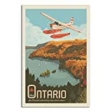 RQSY Vintage-Reise-Poster Kanada Ontario von Air auf