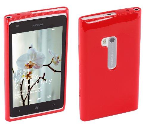 Works with Nokia CP-033N - Funda para móvil Nokia Lumia 900, Rojo