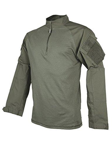 Tru-Spec Chemise de Combat pour Homme Tru Rngr GRN P/c R/s 1/4 Zip Xsr Manches Longues Vert Ranger XS Regular