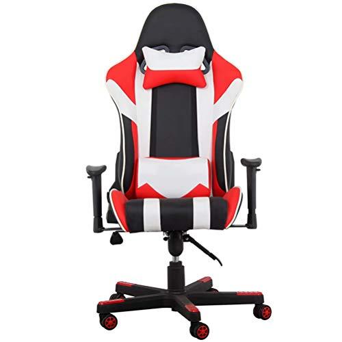 Gaming Racing Bureaustoel Heavy Duty Draaibare PC Computer Bureaustoel - Hoge rug Ergonomisch ontwerp met lendensteun en neksteun en verstelbare armleuningen