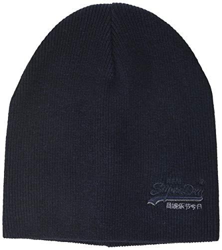 Superdry Herren ORANGE Label Beanie Strickmütze, Mehrfarbig (Downhill Navy/Black Grit T6n), Einheitsgröße