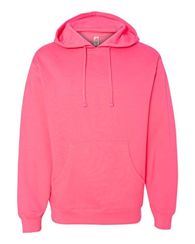 Independent Trading Co.. - Midweight Hooded Pullover Sweatshirt - SS4500 - M - Neon Pink