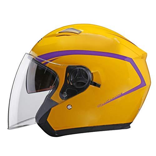 Casco de motocicleta Cara abierta Visores de doble lente Casco de moto...