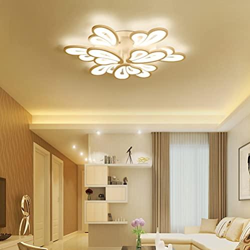 Lámpara de techo LED creativa con mariposas y flores,3-5-9,diseño de lámpara decorativa para salón,regulable,con mando a distancia,para dormitorio,baño,habitación de los niños,comedor,sin parpadeos