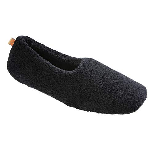 Acorn Spa Travel Slipper, Black, X-Large / 9.5-10.5