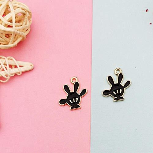 LINL 10pcs Cute Enamel Charms Oil Drop Metal Head Pendants DIY Earring Bracelet Hair Floating Jewelry Accessory,2