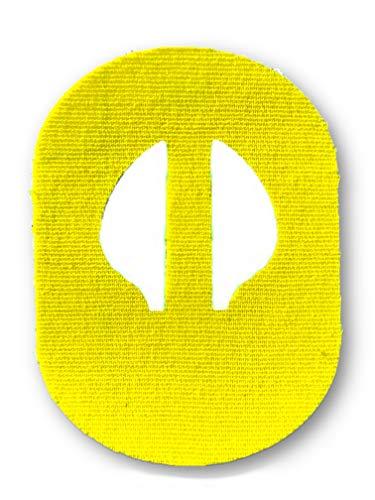 FixTape ademende sensor tape voor Medtronic Enlite I zelfklevende patch voor glucose sensor met veel draagcomfort I huidvriendelijk en watervast in hippe designs I 7 stuks (Geel)