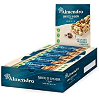 El Almendro - Barritas de Almendra a la Sal - 10x21 gr - Sin Gluten - Sin Aceite de Palma - Alto Contenido en Fibra