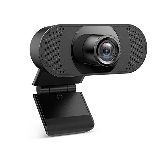 Webcam mit Mikrofon, Ehome Webcam 1080P für Laptop, Desktop, USB 2.0 Plug & Play, Webcam pc,Automatischer Lichtkorrektur für Live-Streaming, Videoanrufe, Online-Unterricht, Konferenz, Spielen