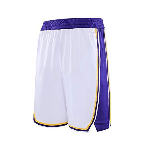 NIUPUPU Pantalones Cortos de Baloncesto para Hombre NBA Los Angeles Lakers Pantalones Cortos de Fitness para Correr Pantalones Cortos de Entrenamiento para Gimnasio Ropa Informal