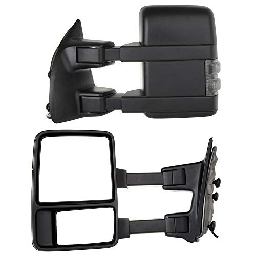 Best Buy! Pair Super Duty Towing Manual Signal Mirrors For 08-16, Compatible With Ford F250 F350 F450 F550