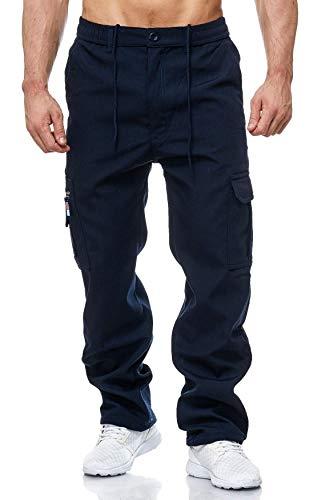 EGOMAXX Herren Cargo Hose Arbeitshose Gefüttert Workwear H2000, Farben:Blau, Größe Hosen:XXL