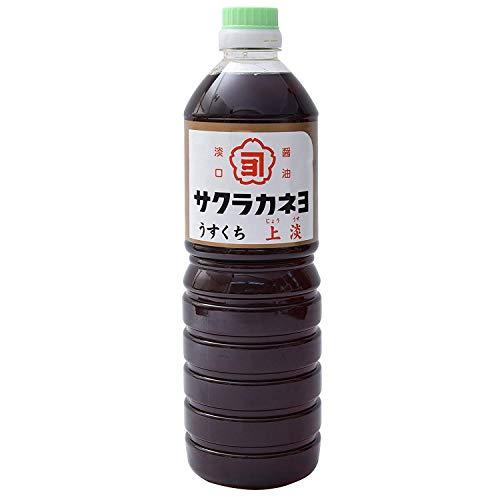 【 吉村醸造 サクラカネヨ 】 上淡 しょうゆ 1L ×2本