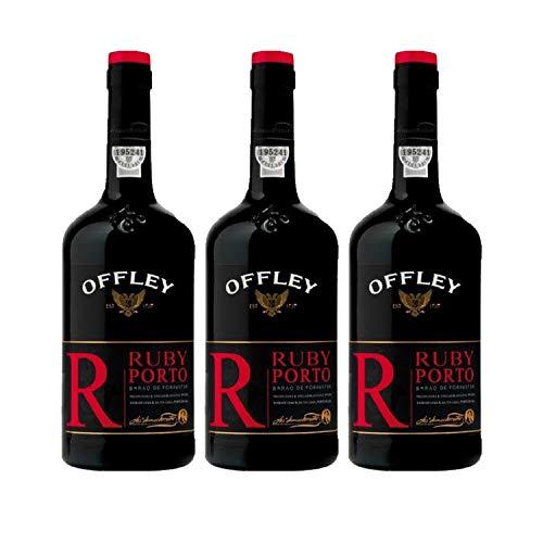 Vino de Oporto Offley Ruby - Vino Fortificado - 3 Botellas