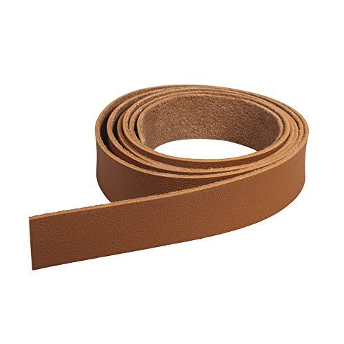 Rayher 83035538 Bande en cuir synthétique, 138 x 2 cm, brun chevreuil