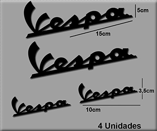 Ecoshirt JE-G75J-TJS9 Pegatinas Stickers Vespa R74 Aufkleber Decals Autocollants Adesivi, Negro