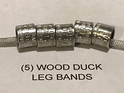 Decoy Outdoors 5 (Five) Wood Duck Bands, 5 Duck Leg Bands, Add to Your Duck Call Lanyard or Duck Mount