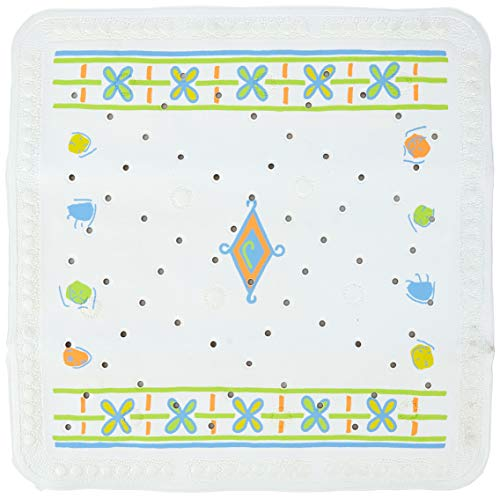 Spirella Alfombra ANTIDESLIZANTELIZANTE Avignon Mult. 55X55 1238266, Blanco, Estandar