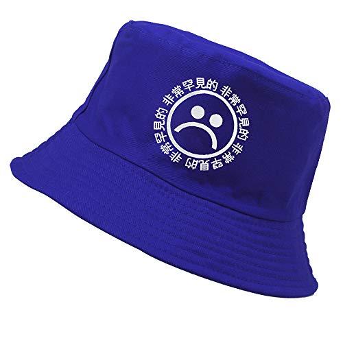 ZWXDMY Sombrero De Pescador,Blue Sad Boys Pattern Sunscreen Fisherman Hat Plegable Sunhatnet A Prueba De Viento Sunbonnet Bob Basin Caps, para Verano Al Aire Libre Camping Travel Lady Gift