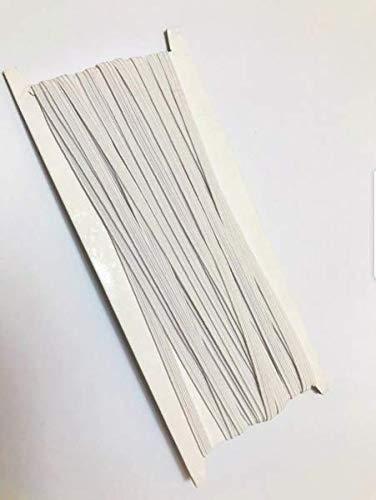 LEBEXY Gummiband Gummilitze gewebt flach, je 10 m. Elastisches Gummiband, Schlüpfergummi, Hosengummi, Nähband für Verschiedene Kleidungsstücke (weiß, 5 mm)