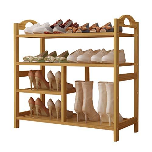 ZZYE Zapatero 4 niveles zapatos de bambú rack botots rack- mejora los tacones altos de almacenamiento Organizador de almacenamiento Estante del zapato para la sala de estar de la sala de vestíbulo Est