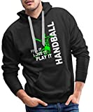 Handball Feel It Love It Play It Sweat-Shirt à Capuche Premium pour Hommes, XXL, Noir