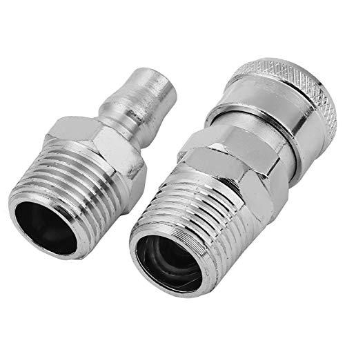 Toma de aire rápido, acoplador rápido, hierro galvanizado estable al aire para 0~60 ℃ 20 piezas Conexión de bloqueo(SM40 female + PM40 male)
