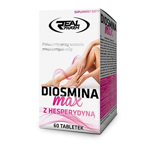 Real Pharm Diosmina max z hesperydyną 60tabs Diosmin Hesperidin Vitamin C