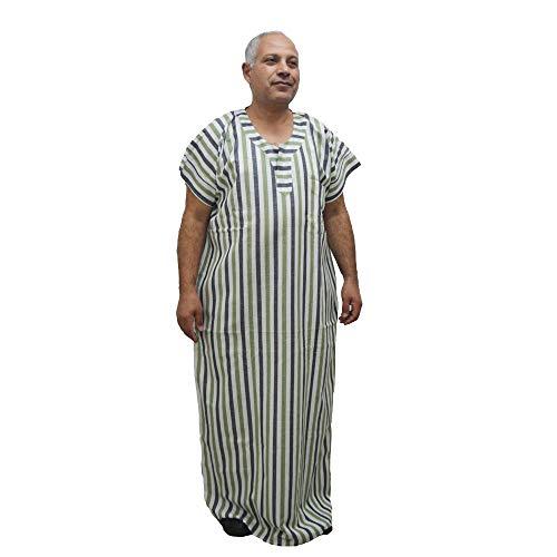 Chilaba Djellaba Marokko, Ägypten, ägyptische Baumwolle, erhältlich in verschiedenen Größen, Chilaba egipcia, Weiß, Chilaba egipcia S