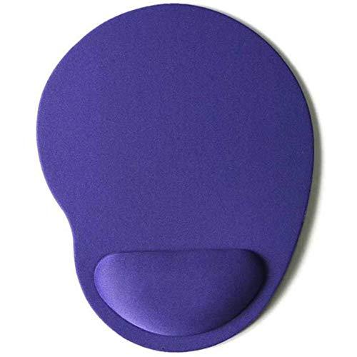 Muismat met polsbescherming Computer Laptop Notebook Toetsenbord Muismat Comfort Polssteun voor Game Muizen Pad, paars