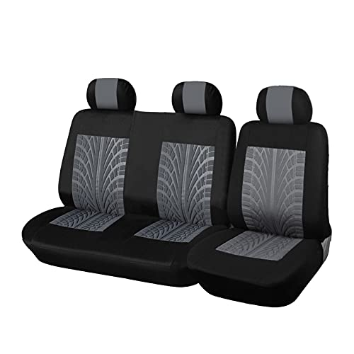 HSMIN Camión de automóvil 2 + 1 Tipo Tapa de Asiento Dividido Cojín de Asiento a Prueba de Polvo para Ford Transit Pedido para Vauxhall para Renault para a/Yota Hiace