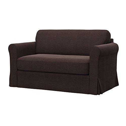Soferia - IKEA HAGALUND Funda para sofá Cama, Elegance Brown