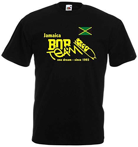 World of Shirt Jamaica-Jamaika BOB Team T-Shirt Herren Shirt