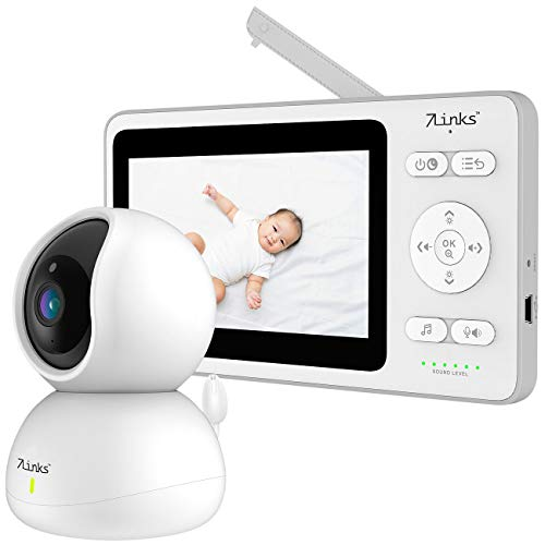 7links Baby Kamera: Video-Babyphone, dreh- & schwenkbare Kamera, 11 cm (4,3