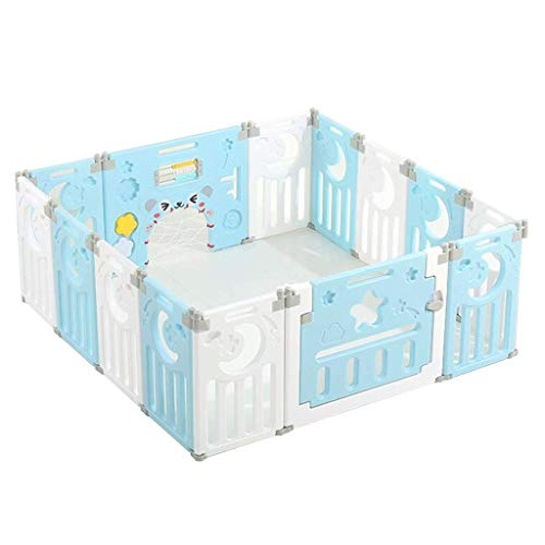 Playpen for Baby Use Kids and Toddlers, Kids Activity Centre Indoor Safety Baby Use Fence, Non-Slip Rubber Base, Foldable Easy Assembled Gift (with Crawling Mat)