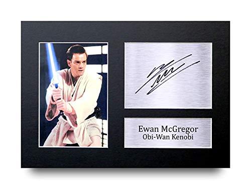 HWC Trading Ewan McGregor A4 Ungerahmt Signiert Gedruckt Autogramme Bild Druck-Fotoanzeige Geschenk Für Star Wars Obi-Wan Kenobi Filmfans