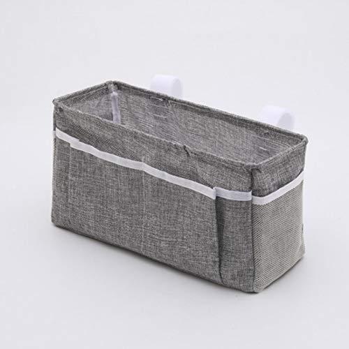 DASNTERED Organizador colgante para mesita de noche, bolsa de almacenamiento para cama, litera y mesita de noche, bolsa de almacenamiento para colgar en habitaciones de literas (gris oscuro)