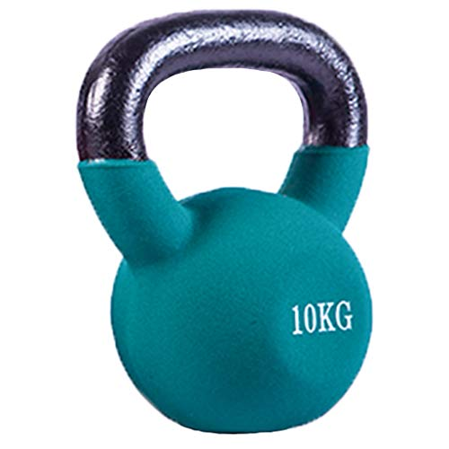 OCYE Kettlebell Fitness, Gusseisen, Neoprenbeschichtung um die untere Hälfte des Metalls Kettlebell (10 kg / 14 kg / 18 kg)