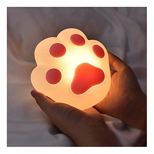 WQXD DIRIGIÓ Luz de Noche de Pata de Gato,USB Child Child Linda atmósfera Nocturna, para Estudio Dormitorios Habitaciones para niños Bebés Bebés Lámpara de Noche